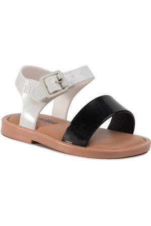 Melissa Mini Mar Sandal III Bb 32633 Black/White/Brown 52909