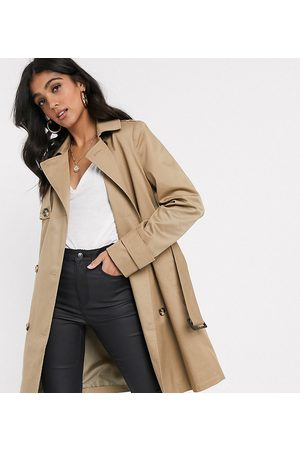 ASOS ASOS DESIGN Tall – Trenchcoat in Stone