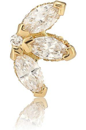 Maria Tash Einzelner Ohrring Lotus aus 18kt Gelbgold und Diamanten