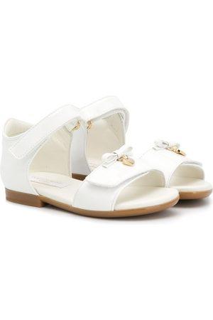 Dolce & Gabbana Flache Sandalen mit Schleife