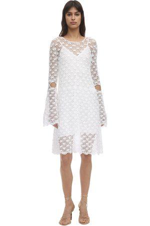Liya Crochet Flared Mini Dress