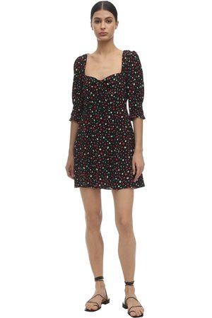 RIXO Larissa Printed Silk Blend Mini Dress