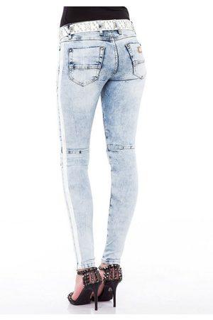 Cipo & Baxx Damen Slim - Slim-fit-Jeans in modischem Slim-Fit Schnitt