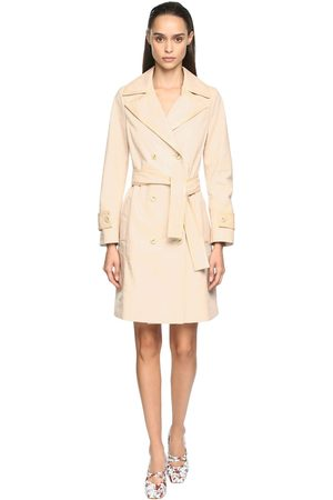 DROME Croc Embossed Leather Trench Coat