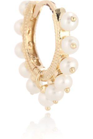 Maria Tash Einzelner Ohrring Eternity aus 14 kt Gelbgold mit Perlen