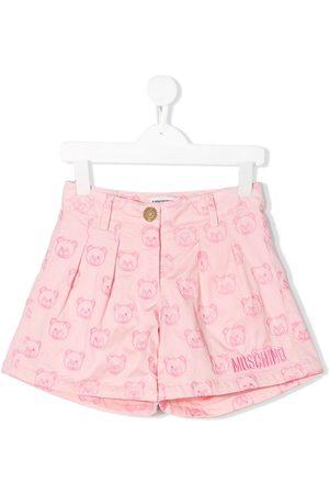 Moschino Kids Shorts mit Teddy-Stickerei