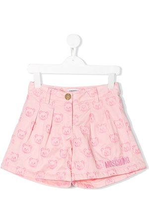 Moschino Shorts mit Teddy-Stickerei