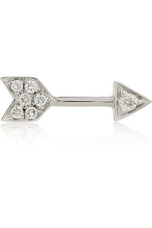 Maria Tash Einzelner Ohrring Arrow aus 18kt Weißgold mit Diamanten