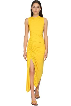 Sies marjan Ruched Matte Jersey Dress