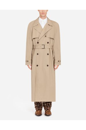 Dolce & Gabbana Double-breasted stretch cotton trench jacket