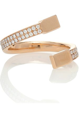 Repossi Ring Serti Carrés Alternés aus 18kt Rosé mit Diamanten