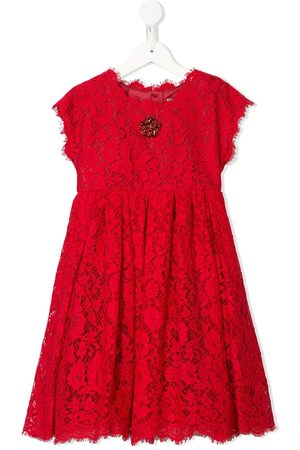 Dolce & Gabbana Kids Kleid mit Kristallen