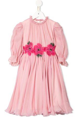 Dolce & Gabbana Kids Mädchen Bedruckte Kleider - Kleid mit Blumen-Print