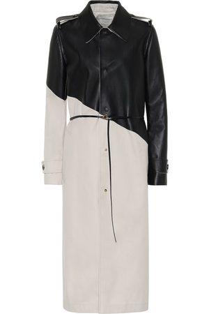 Bottega Veneta Damen Trenchcoats - Trenchcoat aus Gabardine mit Leder