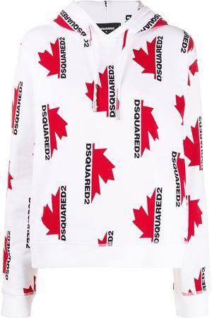 Dsquared2 Damen Sweatshirts - Kapuzenpullover mit Logo-Print