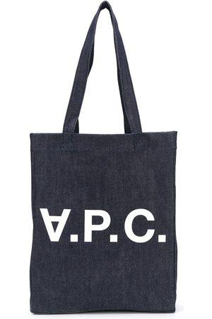 A.P.C. Shopper - Jeans-Shopper mit Logo