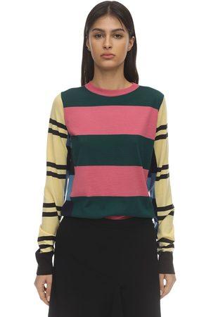 Colville Multi Stripe Wool Knit Sweater