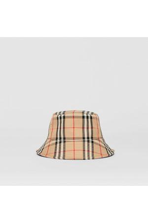 Burberry Damen Hüte - Fischerhut aus Baumwollmischung mit Vintage Check-Muster