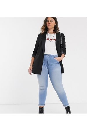 Only – Skinny-Jeans in heller Waschung