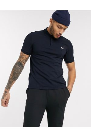Fred Perry – Einfarbiges Polohemd in Marine