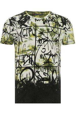 Cipo & Baxx T-Shirt »Grafitti« mit lässigem Allover-Print