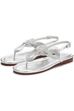 LASCANA Sandale im Metallic-Look