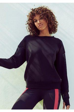 LASCANA Sweatshirt »Technical Red« Mesh-Einsätze und Cutout am Rücken
