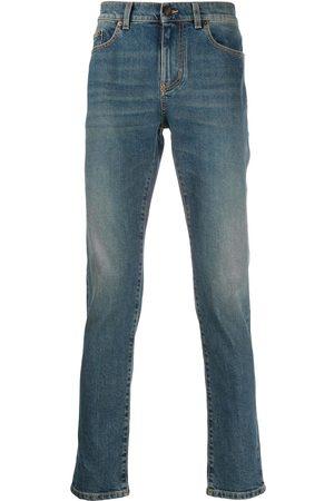 Saint Laurent Herren Straight - Ausgeblichene Jeans