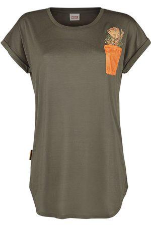 Guardians of the Galaxy Damen T-Shirts, Polos & Longsleeves - Groot T-Shirt oliv