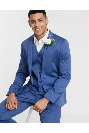 ASOS Wedding – Enge Anzugjacke mit Stretch-Baumwolle in