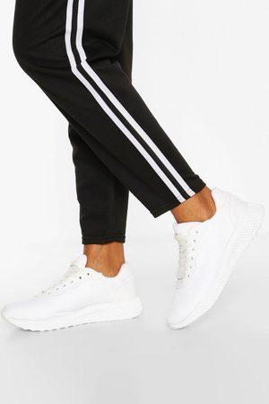 Boohoo Womens Schlichte Sport-Sneaker - - 36