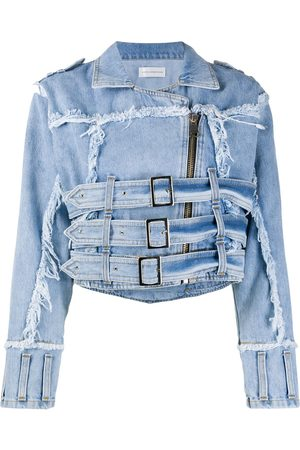 FAITH CONNEXION Damen Jeansjacken - Jeansjacke im Distressed-Look