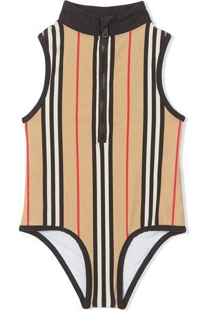 Burberry Mädchen Badeanzüge - Gestreifter Badeanzug