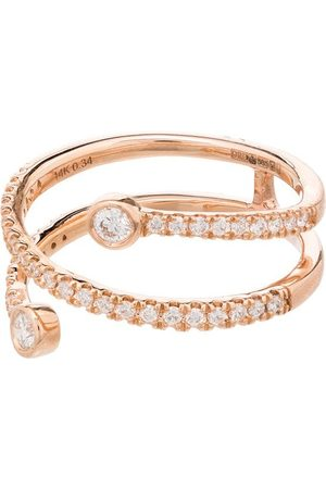 Dana Rebecca Designs 14kt Rotgoldring mit Diamanten
