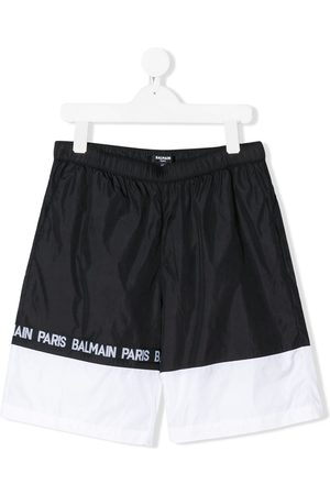 Balmain Badehosen - Badeshorts in Colour-Block-Optik