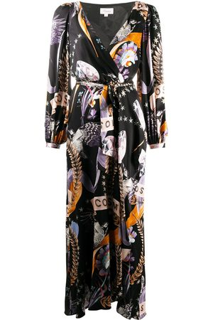Temperley London Wickelkleid mit Kosmos-Print