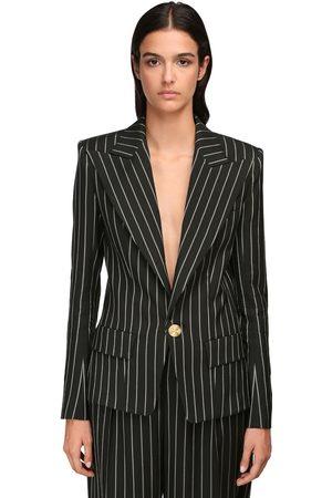 ALEXANDRE VAUTHIER Pinstripe Blazer Jacket