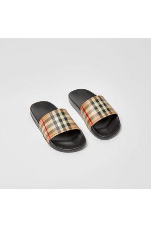 Burberry Slides im Vintage Check-Design, Size: 27