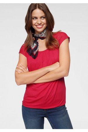 Laura Scott Rundhalsshirt mit elastischem Bund
