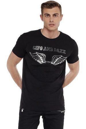 Cipo & Baxx T-Shirt »Cb Wings« mit Prägedruck
