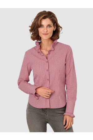 MONA Klassische Bluse mit Rüschen