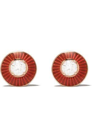 SELIM MOUZANNAR 18kt Rotgoldohrstecker mit einem Diamanten
