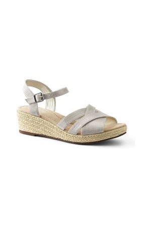 Lands' End Canvas-Keilsandalen