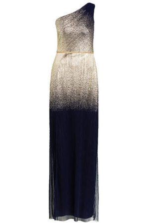 Marchesa Notte One-Shoulder-Abendkleid blau