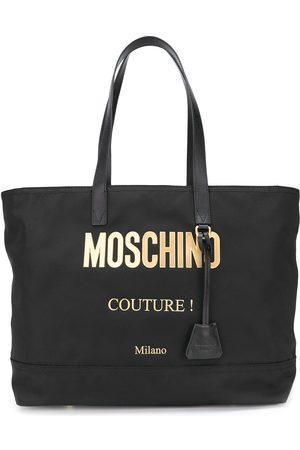 Moschino Handtasche mit Logo-Schild