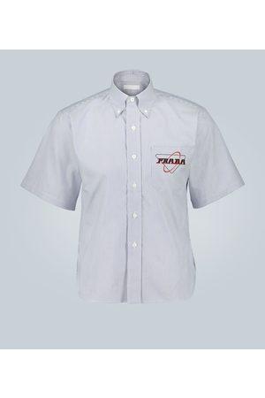 Prada Hemd mit Streifen-Print und Logo