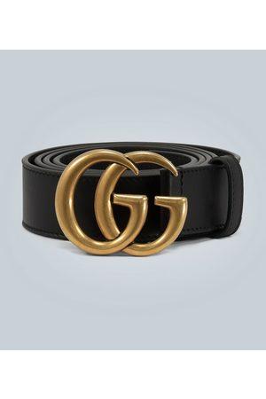 Gucci Damen Gürtel - Ledergürtel mit Doppel-G-Schnalle