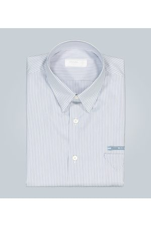 Prada Gestreiftes Baumwollhemd mit Logo