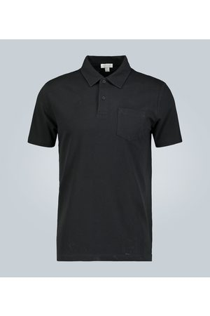 Sunspel Poloshirt aus Baumwollmesh