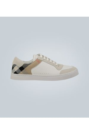 Burberry Leder-Sneakers mit House Check
